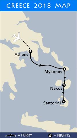 Greece Tour Map